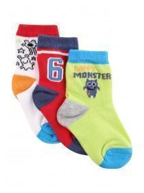 Baby Boys 3pk Green Socks