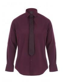 Mens Berry Shirt & Tie Fashion Pack
