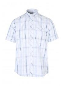 Mens Check Print Short Sleeved Shirt