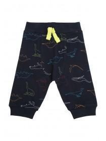 Baby Boys Dark Blue Dino Joggers
