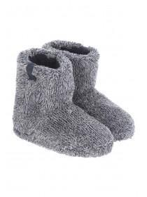 Boys Two Tone Fleck Slipper Boots