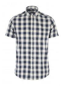 Mens Dark Blue Short Sleeve Shirt
