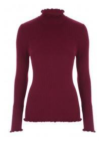 Womens Red Turtle Neck Jumper