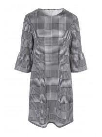 Womens Monochrome Check Dress