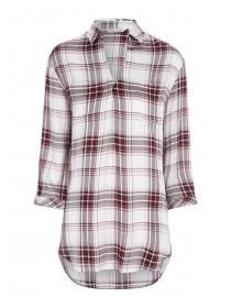 Womens Longline Check Shirt