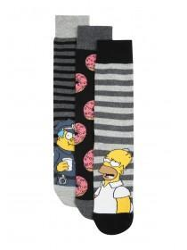 Mens 3PK Simpsons Socks