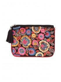 Womens Floral Embroidered Bag