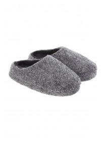 Boys Charcoal Mule Slippers