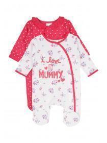 Baby Girls 2pk Mummy Sleepsuits