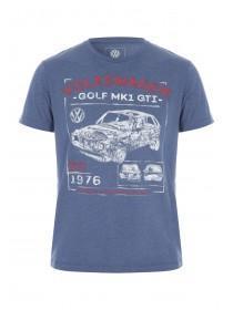 Mens Blue VW Golf License T-Shirt