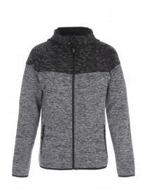 Mens Quilt Panel Zip Up Hoody