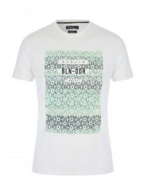 Mens Cream Berlin Tile T-Shirt