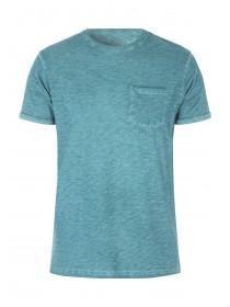 Mens Basic Green Space Dye T-Shirt