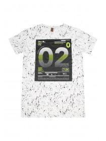 Older Boys White Sporty Splatter T-Shirt