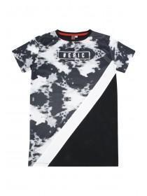 Older Boys Black Longline Cut N Sew T-Shirt
