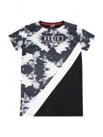 Older Boys Black Longline Cut N Sew T-Shirt