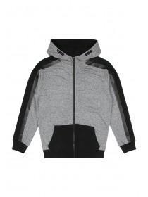 Older Boys Grey Zip Hoody