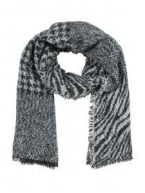 Womens Monochrome Animal Print Scarf