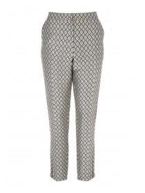Womens Gold Jacquard Trousers