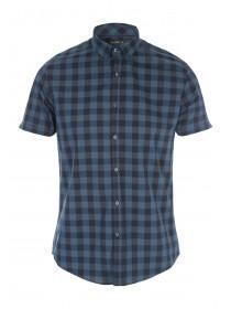 Mens Short Sleeve Check Shirt