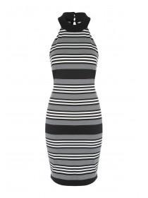 Jane Norman Mono Stripe  Midi Dress