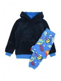 Older Boys Blue Comic Pyjama Set