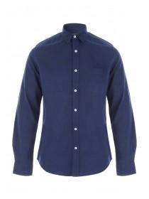 Mens Dark Blue Long Sleeve Shirt