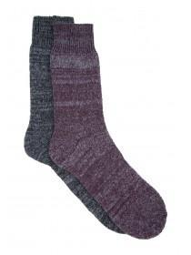 Mens 2pk Spacedye Socks