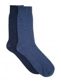 Mens 2PK Casual Weave Socks