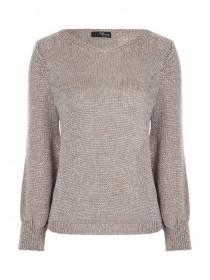 Jane Norman Beige Metallic Jumper