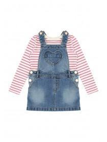 Younger Girls Pinafore and T-Shirt