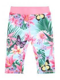 Younger Girls Tropical Cropped Leggings