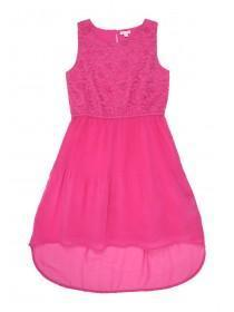 Older Girls Pink Lace Dress