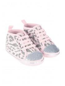 Baby Girls Leopard Hi Top Trainers