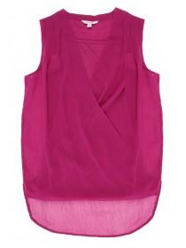 Older Girls Pink Woven Wrap Top