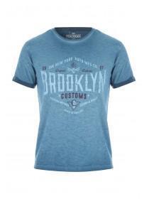 Mens Teal Brooklyn Customs T-Shirt
