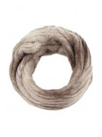 Womens Brown Faux Fur Snood