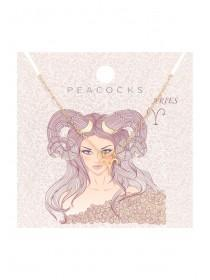 Womens Aries Zodiac Necklace