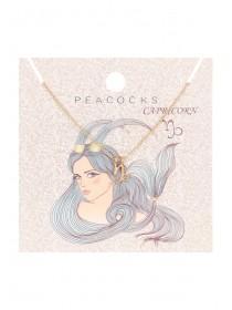 Womens Capricorn Zodiac Necklace