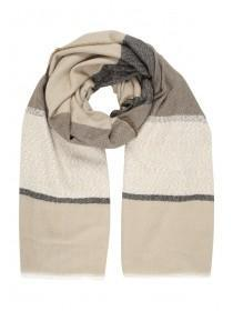 Womens Block Stripe Scarf