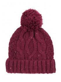 Mens Burgundy Pom Hat