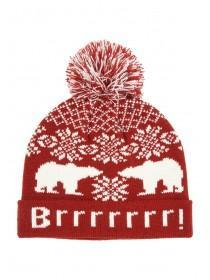 Mens Polar Bear Beanie