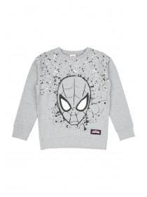 Younger Boys Grey Spiderman Sweater