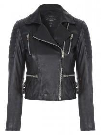 Jane Norman Black Zip Leather Jacket