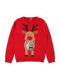 Older Boys Red Reindeer Jumper