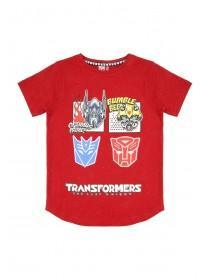 Younger Boys Red Transformers T-Shirt
