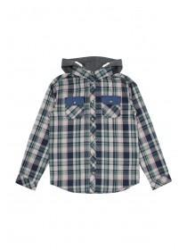 Older Boys Hooded Flannel Shirt