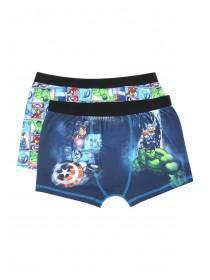 Boys 2Pk Marvel Trunks