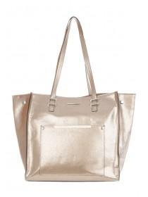 Womens Gold Soft Tote
