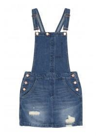 Older Girls Blue Dungaree Dress